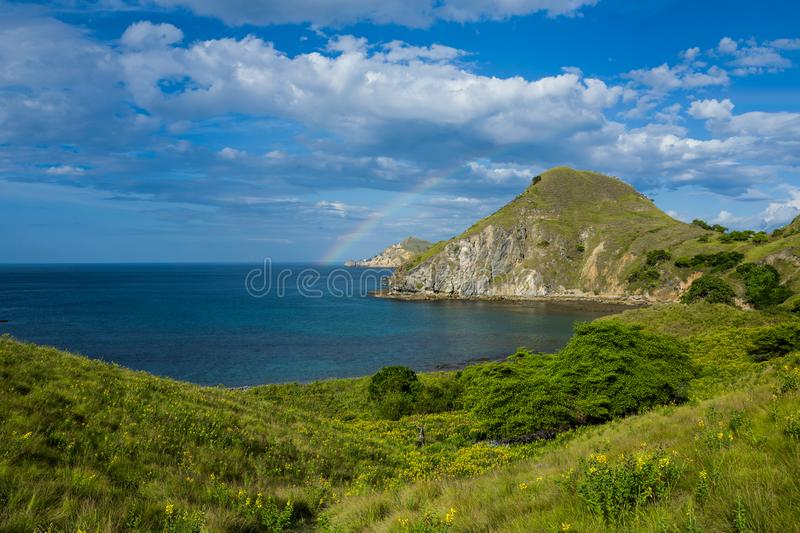 Padar Island in Flores, Indonesia. royalty free stock image
