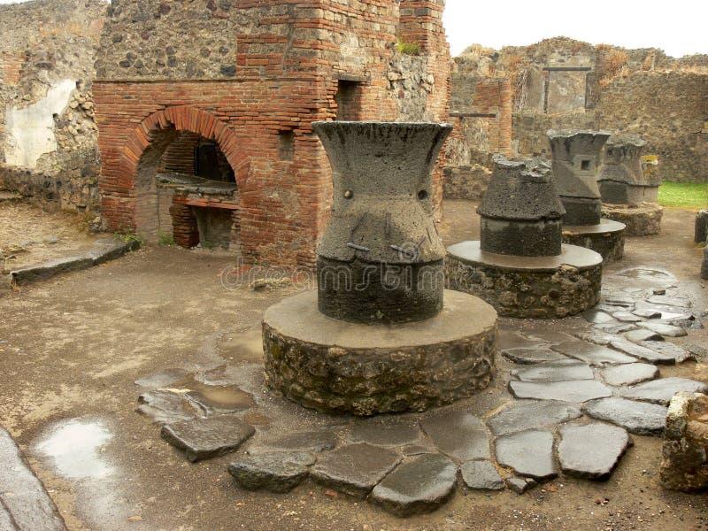 Padaria antiga em Pompeii em Itália fotos de stock