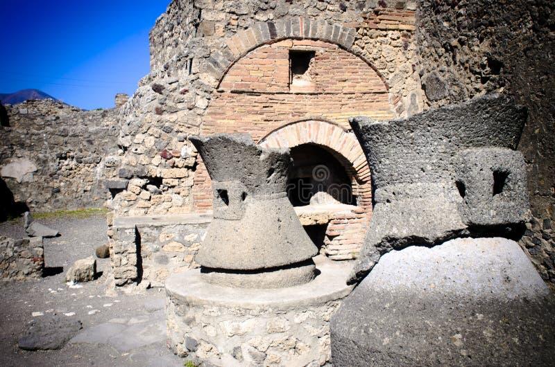 Padaria em Pompeii imagens de stock