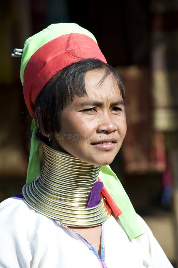 padaungthailand kvinna royaltyfri bild