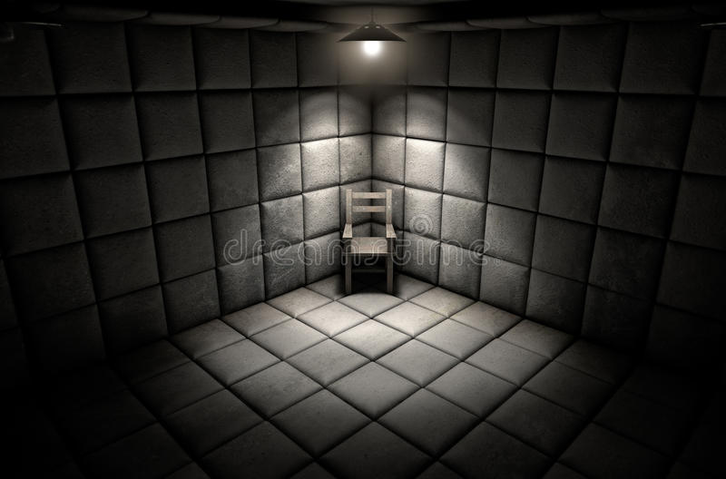 Padded Cell And Empty Chair stock images