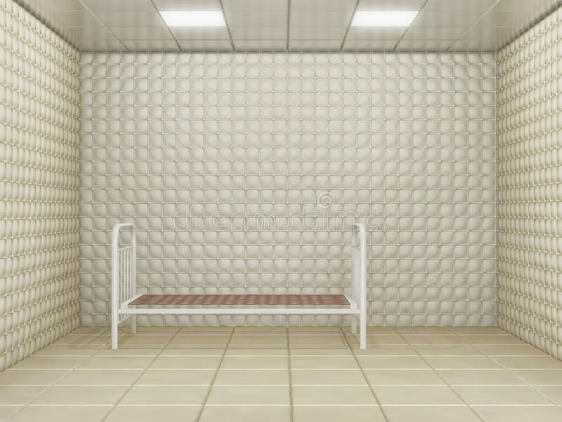 Download Padded room stock illustration. Image of wall, empty - 24108781