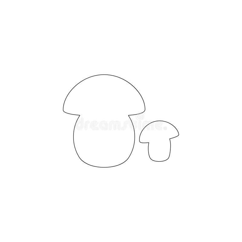 Paddestoelporcini Vlak vectorpictogram vector illustratie