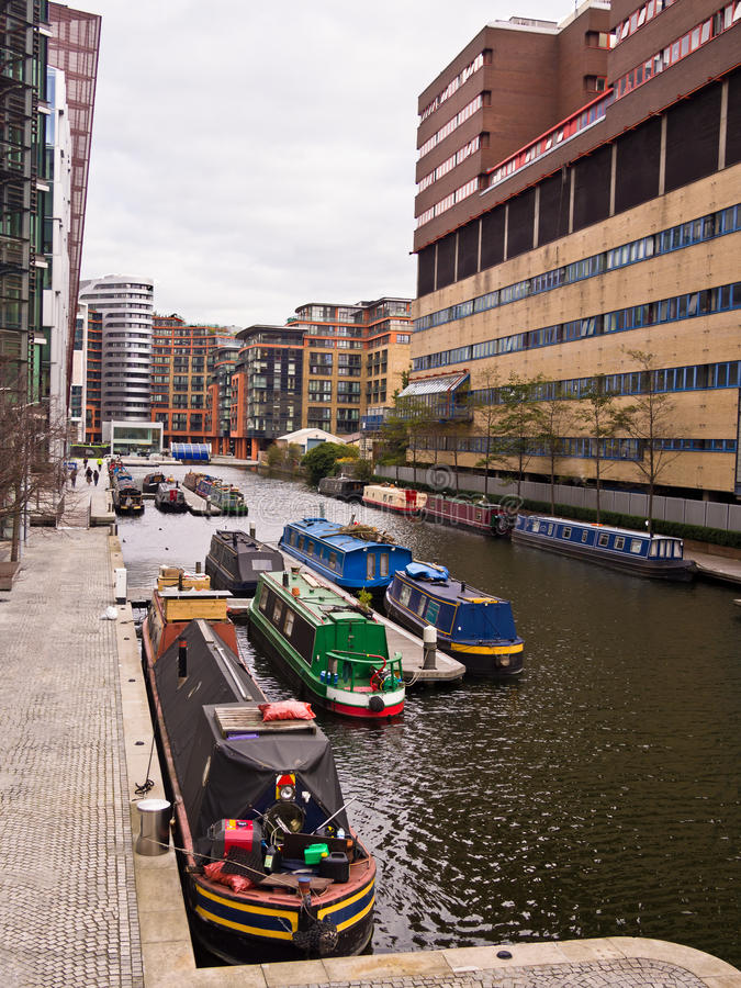 Paddington Canal Basin, London royalty free stock photography