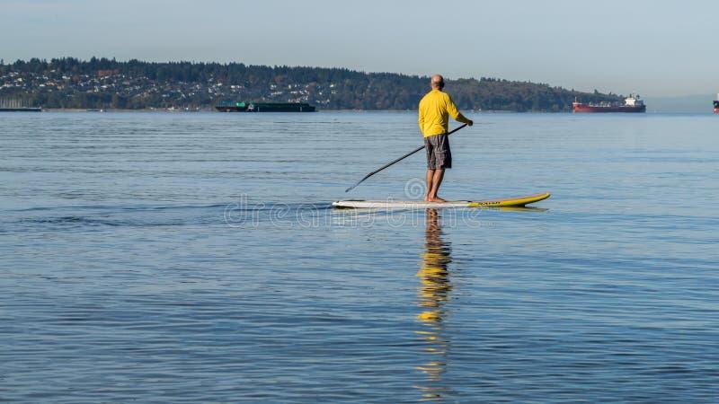 Paddle board sunday stock photo