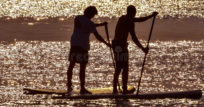 Paddle Boarders stock photo