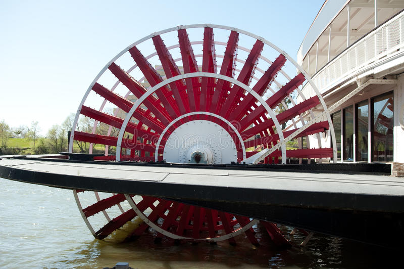 Paddle Boat. With red paddle wheel royalty free stock photography