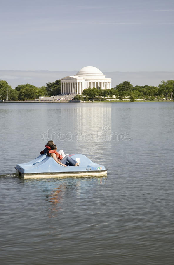 Download Paddle boat floating editorial photography. Image of people - 27072512
