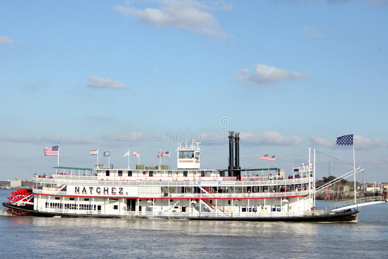 Paddle boat on the Mississippi. A paddle boat on the Mississippi in New Orleans, Louisiana stock images