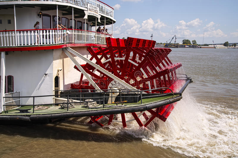 Paddle boat Natchez. The paddle boat Natchez on the Mississippi river in New Orleans Lousiana royalty free stock photography
