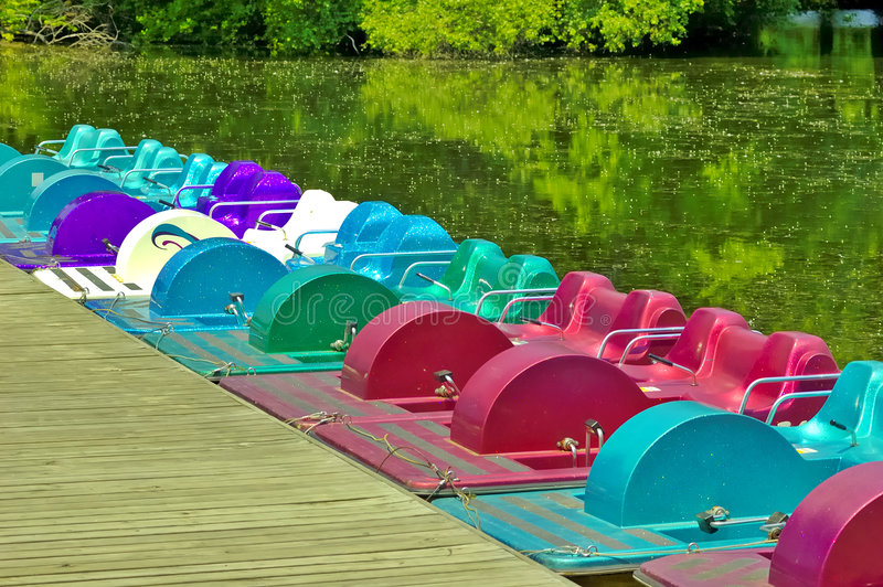 Download Paddle Boats stock photo. Image of dock, peddle, outdoors - 168658