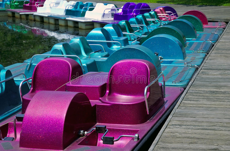 Download Paddle Boats stock image. Image of spring, leisure, boats - 169447