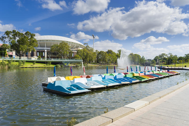 Paddle boats in Adelaide city in Australia royalty free stock image