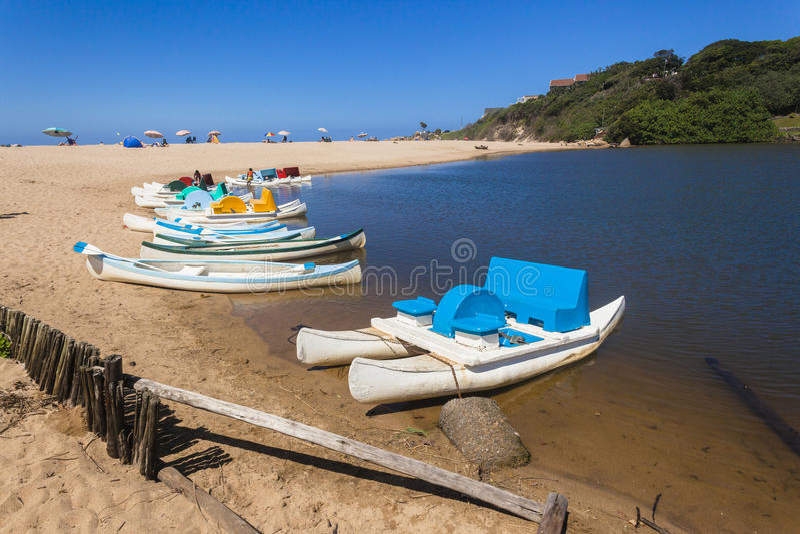 Paddle Boats Beach Lagoon Holidays stock image
