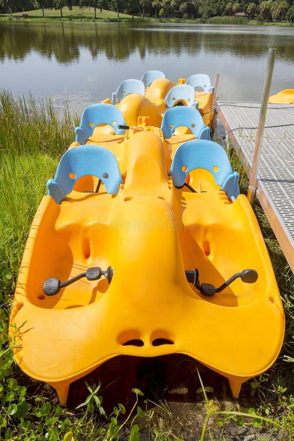 Paddle Boats stock photography
