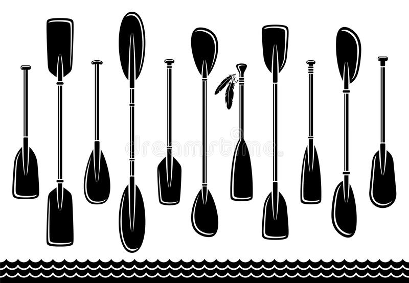 Paddle set wektor royalty ilustracja