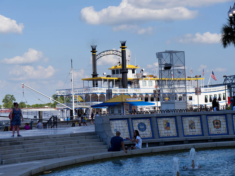 The Paddle Steamer in New Orleans Louisiana USA royalty free stock photography