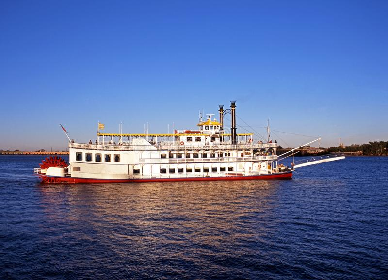 Paddle steamer, New Orleans, USA. royalty free stock photography