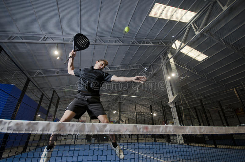 Paddle tennis smash royalty free stock photo