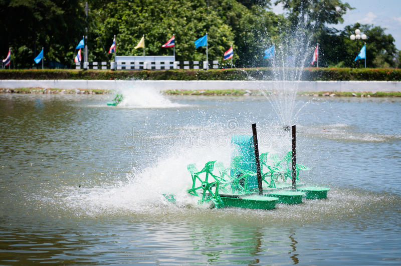 Paddle Wheel Aerator. Of industrial tool royalty free stock images