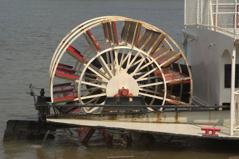Paddle Wheel at rest stock photo