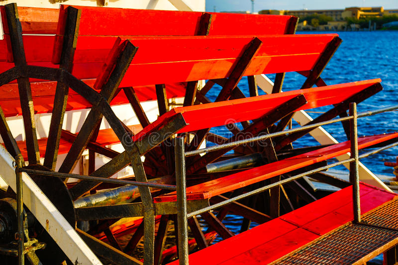 Paddle Wheel Boat. On a river boat stock photo