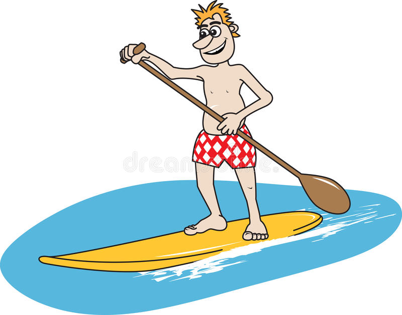 Download Paddleboard Stock Vector Illustration Of Beach Surf