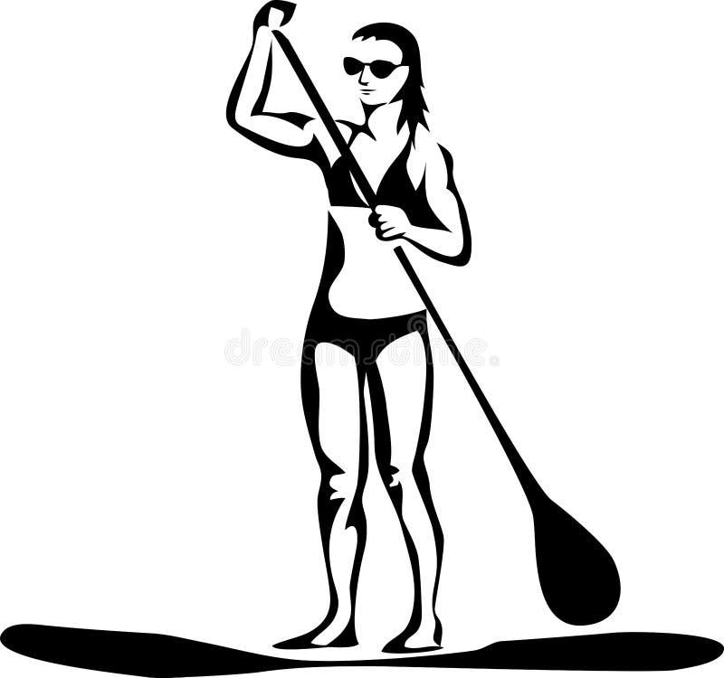 Paddleboard ilustração stock