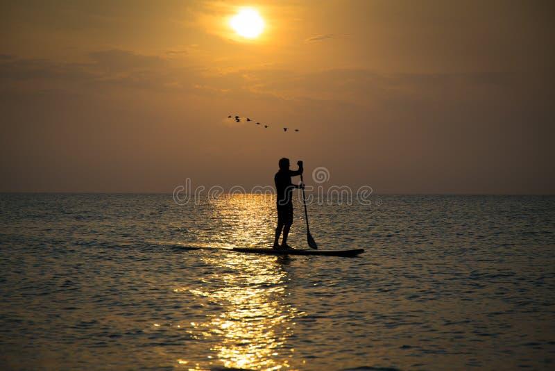 Paddleboard-Strand lizenzfreie stockfotografie