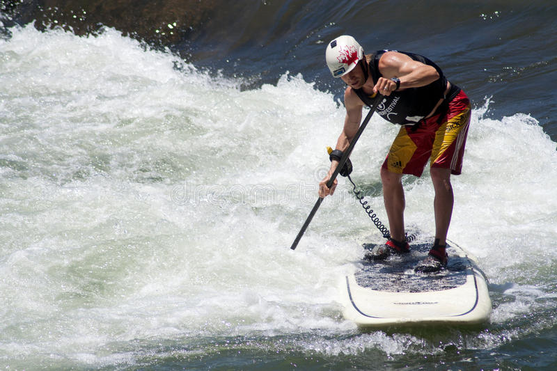 Download Paddleboarder editorial image. Image of competition, activity - 25425045