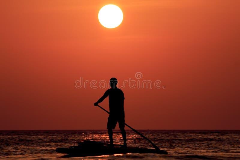 Paddleboarder fotografia stock