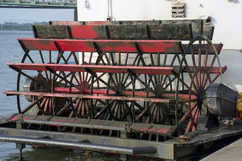 Sternwheel paddle detail stock images