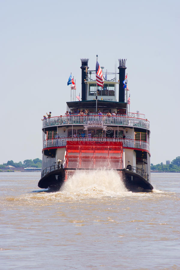 Paddleboat or riverboat. On the Mississippi river stock photos