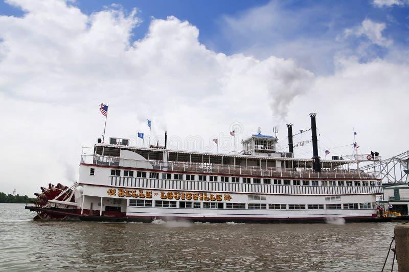 Paddlesteamer河船路易斯维尔的佳丽 库存照片