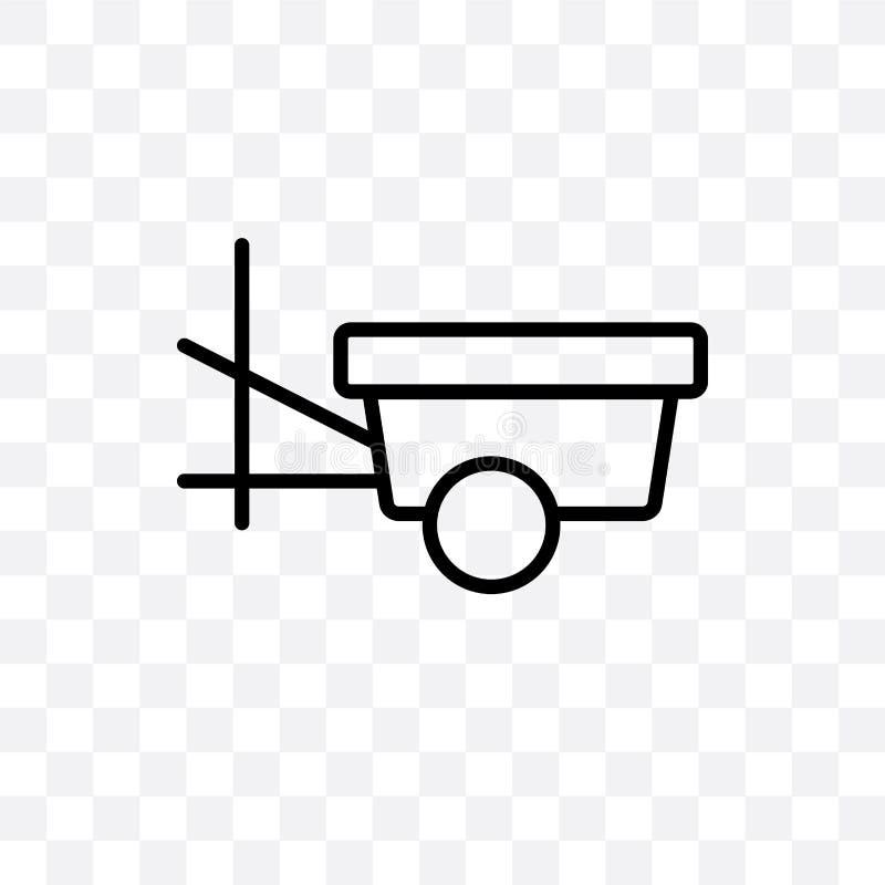 paddlewheeler导航在透明背景隔绝的线性象,paddlewheeler透明度概念在网和mo可以使用 库存例证