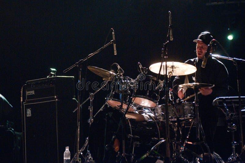 Padeiro de Jack, baterista da faixa do Bonobo imagem de stock