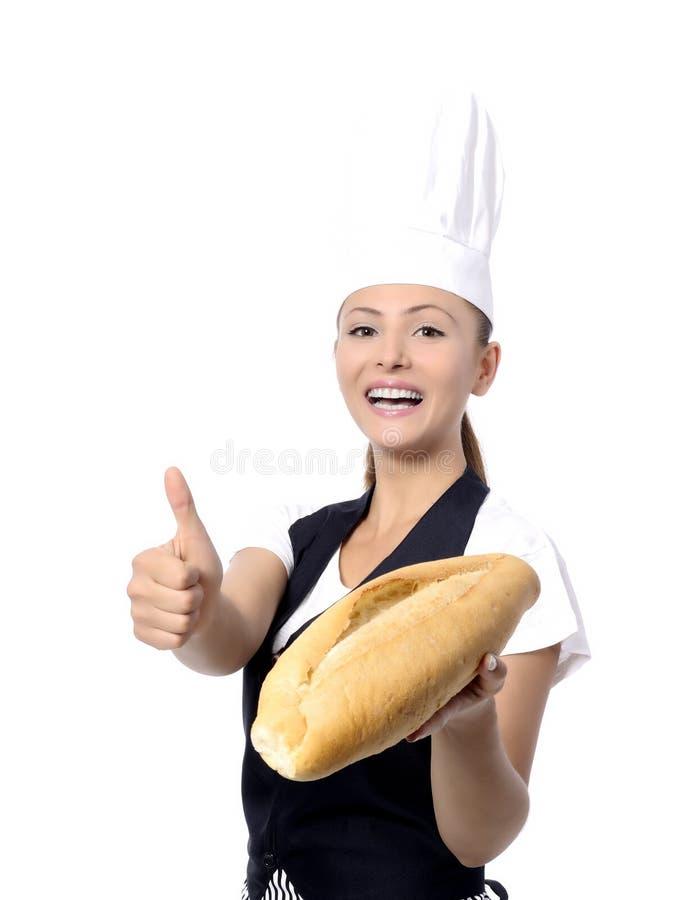 Padeiro ou cozinheiro chefe imagens de stock royalty free
