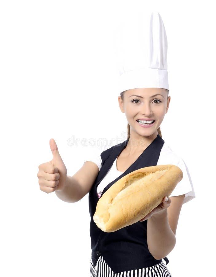 Padeiro ou cozinheiro chefe imagem de stock