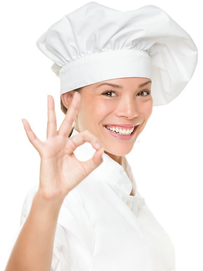 Padeiro ou cozinheiro do cozinheiro chefe foto de stock