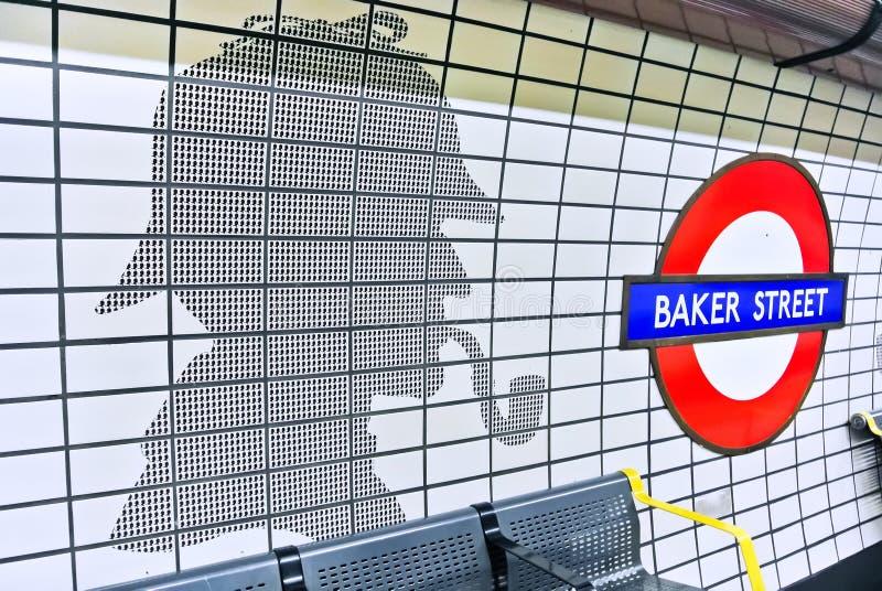 Padeiro Street Underground Station em Londres imagens de stock royalty free
