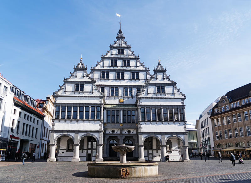 Paderborn Duitsland 13 Maart 2017 Renaissancestadhuis Van 1 Redactionele Afbeelding Image Of Vakantie Stad 89881800