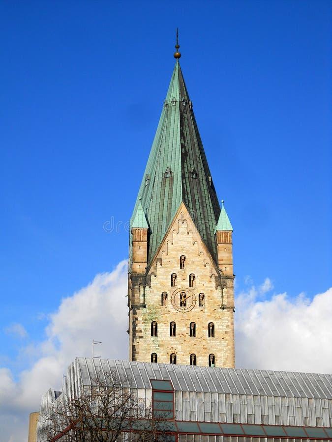 Paderbornerkathedraal stock foto