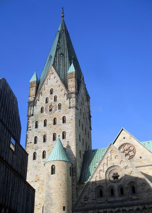 Paderbornerkathedraal royalty-vrije stock foto