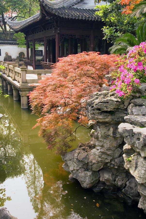 Padiglione al giardino di Yu Yuan immagine stock libera da diritti