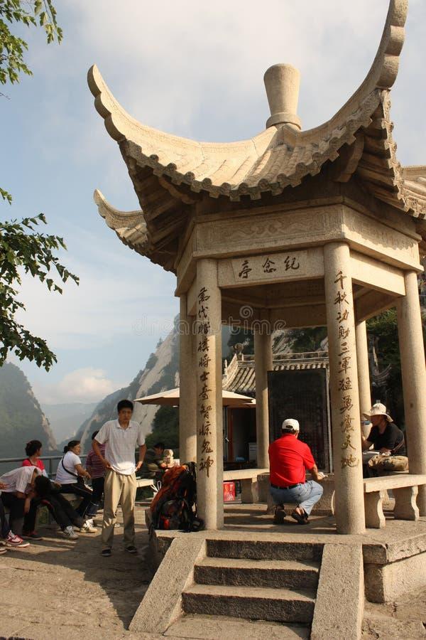 Padiglione alla montagna dello Shan del Hua in Cina immagine stock libera da diritti
