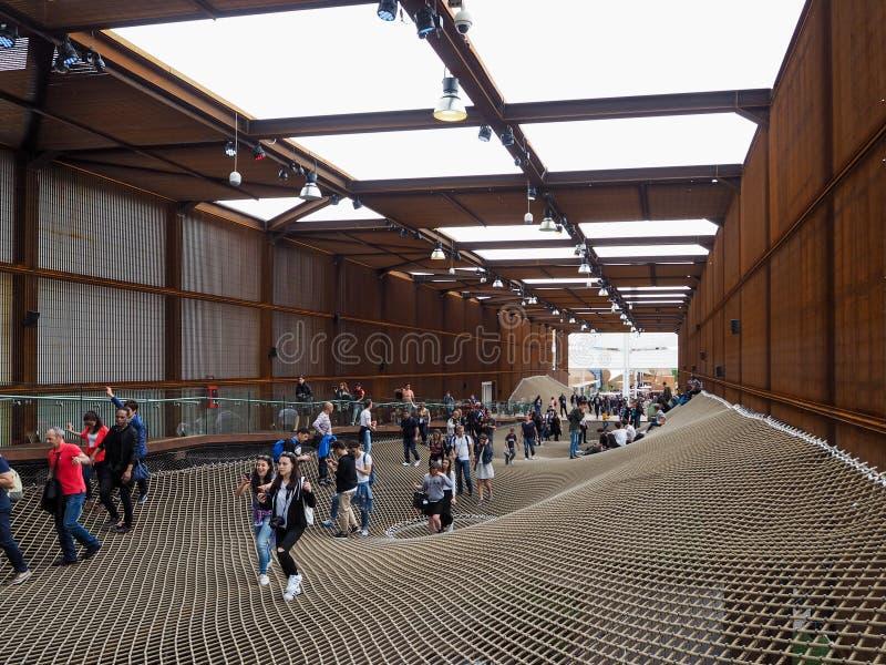 Padiglione brasiliano all'EXPO, l'esposizione del mondo immagini stock