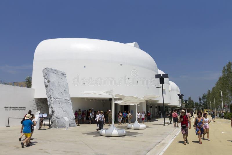 Padiglione coreano sull'EXPO 2015, Italia di Milano fotografia stock