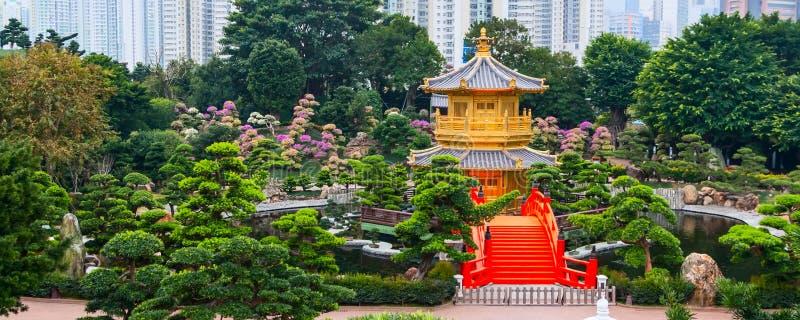 Padiglione del cinese tradizionale in Nan Lian Garden pubblica immagine stock