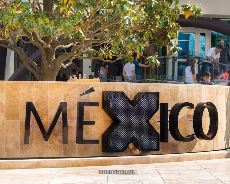 Padiglione del Messico all'Expo 2015 fotografia stock libera da diritti