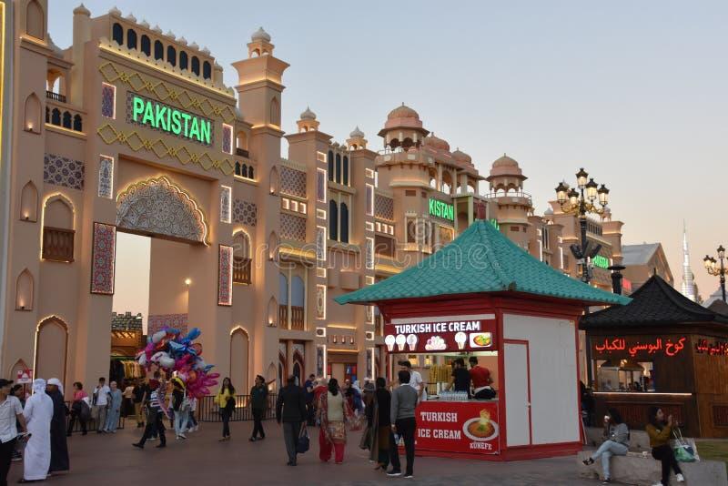 Padiglione del Pakistan al villaggio globale nel Dubai, UAE immagini stock libere da diritti